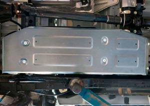 Защита топливного бака алюминий 6 мм Toyota Hilux, V - 2.4D, 2.8D, 4WD (2015+)