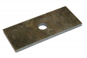 Проставка рессора-мост 130х56х6 мм для рессор 56-60 мм, диаметр отв. 16 мм