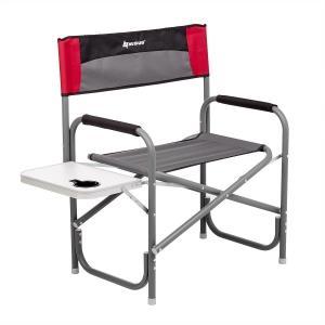 Кресло директорское NISUS MAXI с откидным столиком и подстаканником (серый/красный/черный)