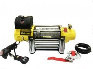 Лебёдка автомобильная электрическая 4x4 9500Lbs (4300кг) (12V) Желтая. Стальной трос