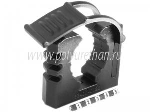 Крепёж для лопаты чёрный (блистер)