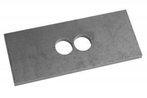 Проставка рессора-мост для ГАЗ Соболь 165х70х6 мм, диаметр отв. 22 мм