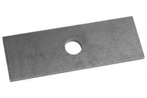 Проставка рессора-мост для УАЗ Буханка 130х45х6 мм для рессор шириной 45 мм, диаметр отв. 16 мм