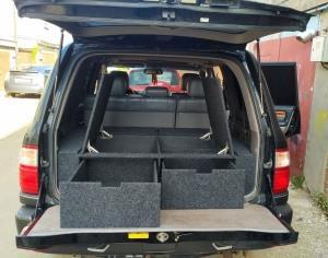 Органайзер для Toyota Land Cruiser 100 (2 выдв.ящика+спальник)