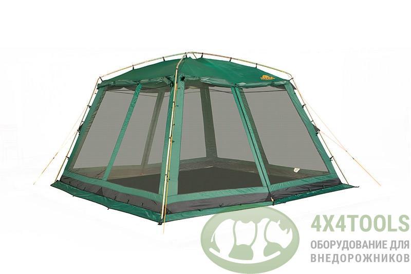 Шатер Alexika CHINA HOUSE ALU green, 350x350x195см. Зеленый