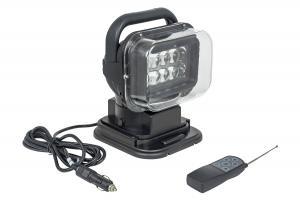 Фара-искатель 12V  50W LED  с дистанционным управлением, черный (200х240х200мм)
