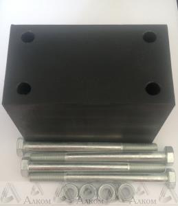 Проставка рессора-рама под серьгу УАЗ 100 мм капролон (с крепежом)
