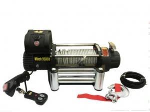 Лебёдка автомобильная электрическая 4x4 9500Lbs (4300кг) (12V) Черная. Стальной трос
