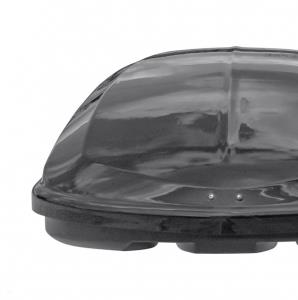 Бокс автомобильный на крышу РИФ Курорт 520 л черный глянец, двусторонний