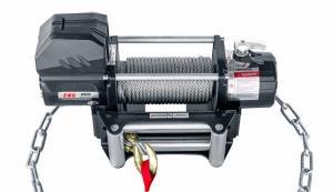 Лебёдка переносная РИФ 9000 c облегчённой площадкой на цепях и проводами (стальной трос)
