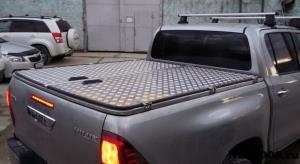 Крышка кузова Toyota Hilux Revo распашная, аллюминий
