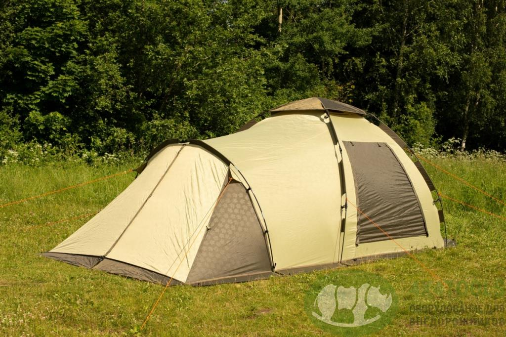 Палатка-автомат кемпинговая Maverick Family Comfort (бежевый / коричневый)