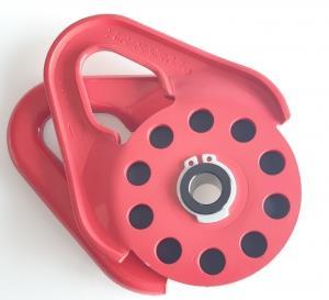 Блок усиления (полиспаст) под синтетический трос 10 мм/9 т , красный
