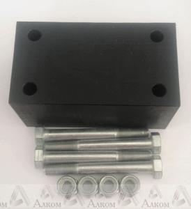 Проставка рессора-рама под серьгу УАЗ 60 мм капролон (с крепежом)