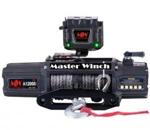 MW A 12000s 12v Лебедка автомобильная электрическая с синтетическим тросом