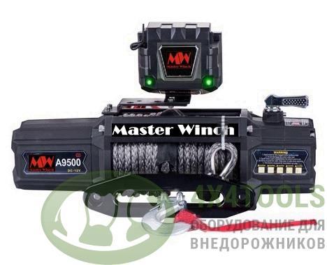 MW A 9500s 12v Лебедка автомобильная электрическая с синтетическим тросом