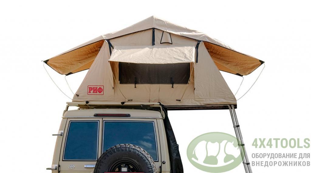 Палатка на крышу автомобиля РИФ Soft RT01-120, тент песочный