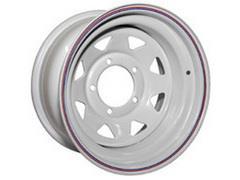 Диск колёсный стальной штампованный 5x127, размер 8х15, ET -19, ЦО 75, белый
