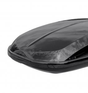 Бокс автомобильный на крышу РИФ Курорт 360 л черный глянец, двусторонний