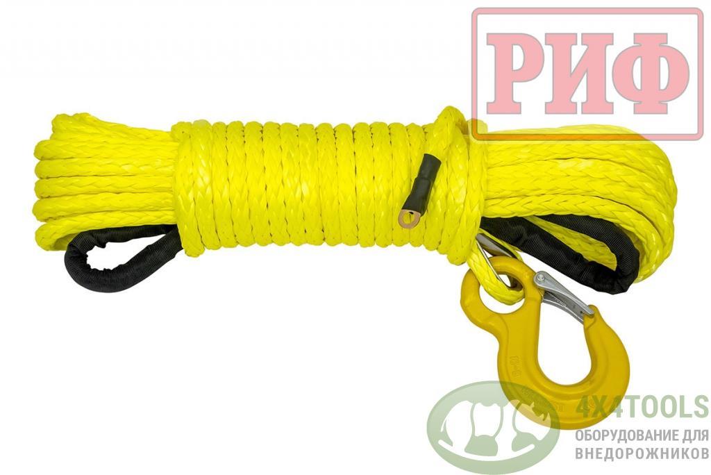 Трос для лебёдки синтетический РИФ 12 мм/23 м (готовый)