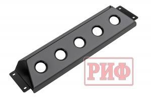 Защита радиатора под бампер РИФ для ГАЗ Соболь лифт +50 мм