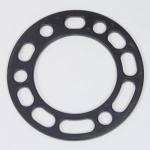 Проставка колесная пластина 6х139.7 / 5х139.7 - h-6,5 мм (1шт) черная , алюминий