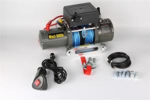 Лебёдка электрическая 12V Electric Winch 6000 lbs 2722 кг (влагозащищенная) 3 контакта, синтет.трос