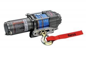 Лебёдка электрическая 12V Runva 3500A lbs 1588 кг (синтетический трос)