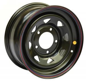 Диск усиленный УАЗ стальной черный 5x139,7 7xR15 d110 ET+10 (треуг. мелкий)