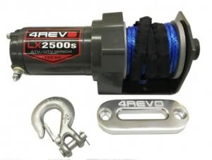 Лебедка для квадроцикла 4REVO LX2500-B 12V с синтетическим тросом