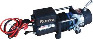 Лебёдка электрическая 12V Runva 4500 lbs 2040 кг (синтетический трос)