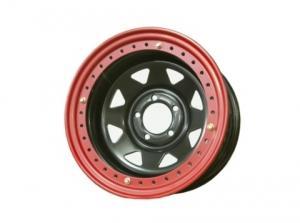 Диск колёсный стальной штампованный с бедлоком 5x114.3, размер 8х16, ET -19, ЦО 84, черный, №122, №1