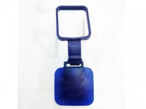 Заглушка фаркопа 2 с фиксатором универсальная, синяя.