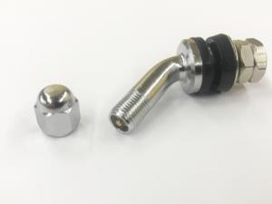 Никелированный вентиль для б/к легковых дисков D=11.3mm угол 45 градусов