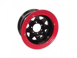 Диск колёсный стальной штампованный с бедлоком 6x139.7, размер 8х15, ET -19, ЦО 110, черный, №111