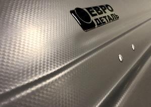 Бокс автомобильный Магнум 580 (серый, тиснение карбон) (2200х840х450) Быстросъём