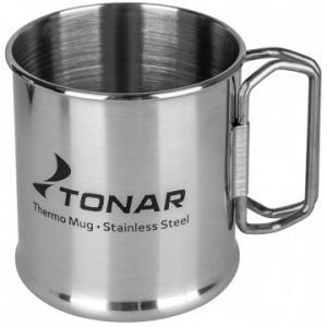 Термокружка ТОНАР 300ML металлическая, со складными ручками