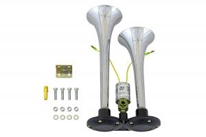 Сигнал звуковой (электрический) 12V , 2-рожка, хром, 295 мм